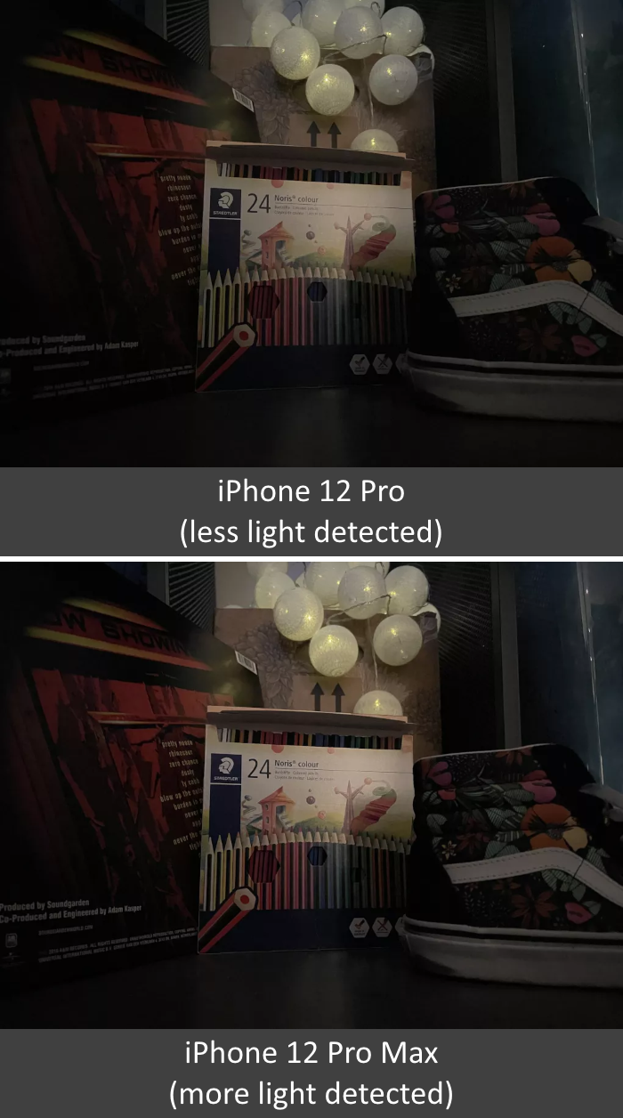 iPhone 12 Pro and Pro Max (Low-Light Photo Comparison)