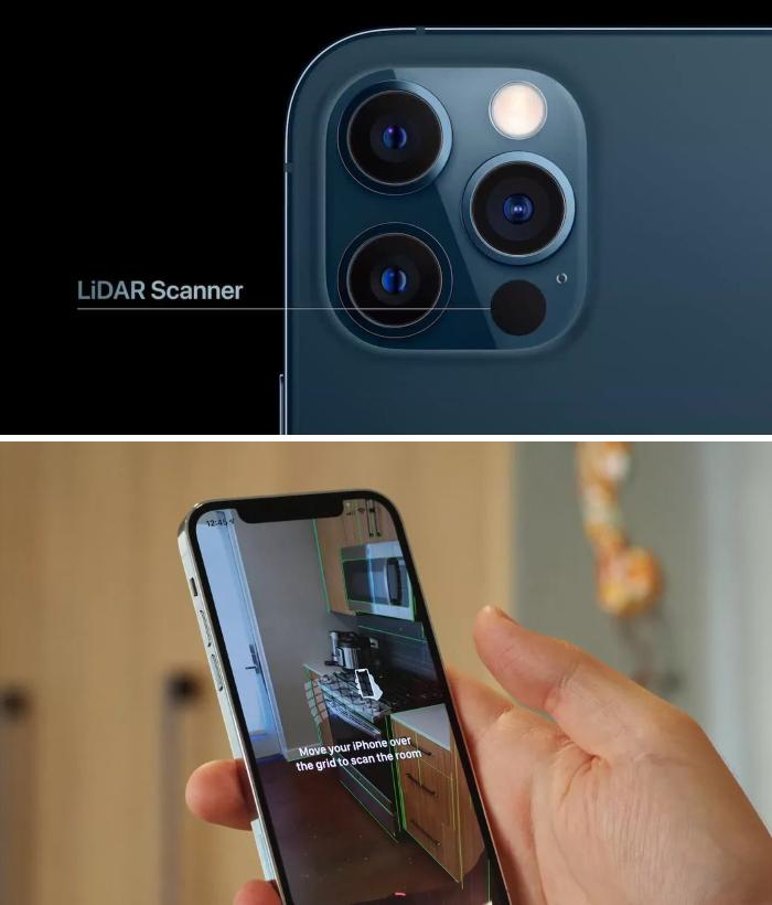 iPhone 12 Pro Max LIDAR Scanner